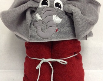 Alabama Big Al Applique Hooded Towel
