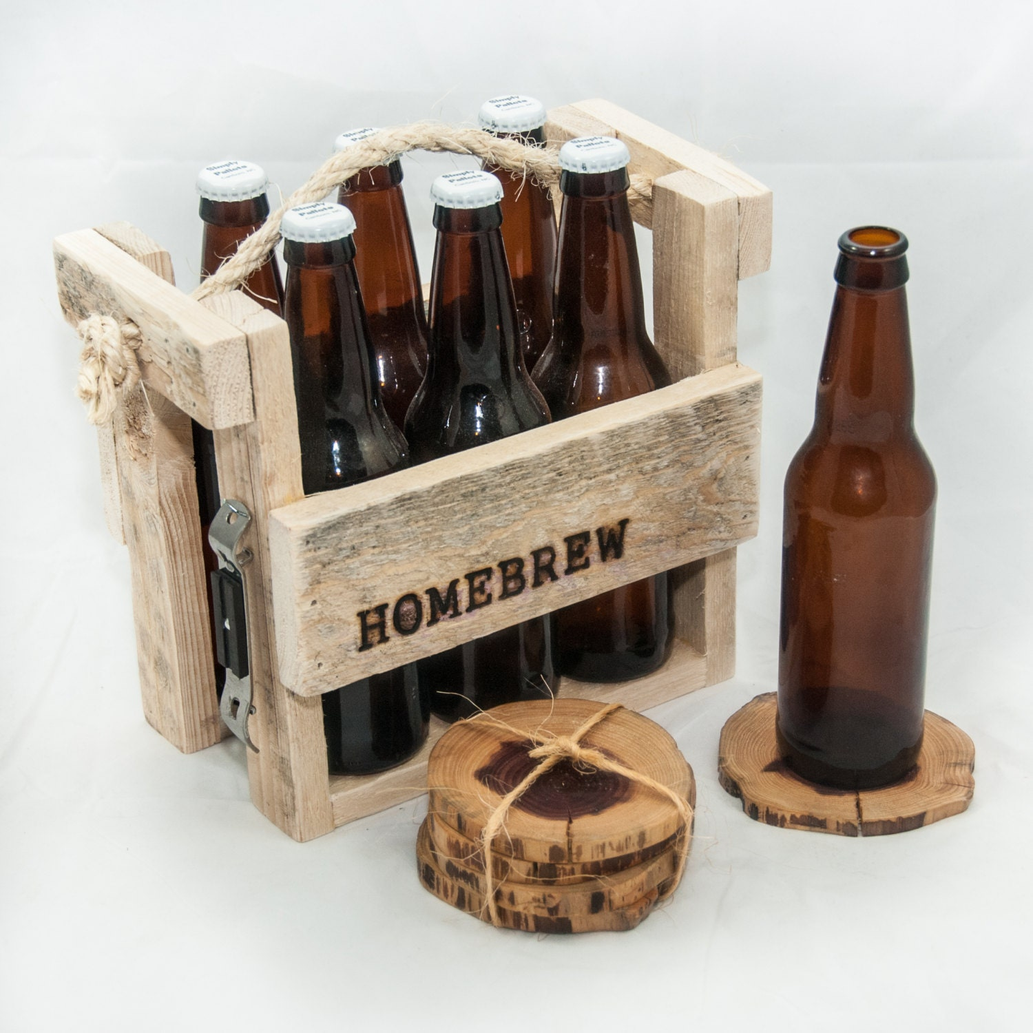 6 pack beer carrier template - father 39 s day gift handmade rustic 6 pack holder by