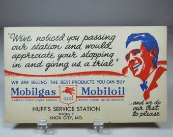 Paper Ephemera Mobil Oil Pegasus Flying Horse Advertising Postcard Mobil Gas Knox City Mo Mobilgas Mobiloil Petroliana Postcard Ad