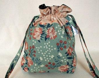 Vintage Floral Project Bag