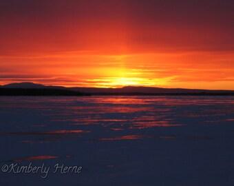 Beyond the Horizon Lake Champlain Vermont Digital Art Photography