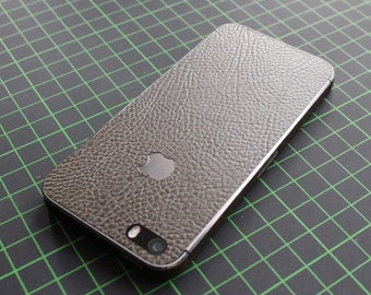 iPhone decal / sticker / skin. 3D brown leather structure. Fits iPhone 4 / 4s/5/5s