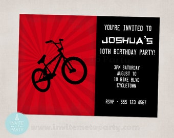BMX Bike Party Invitation Printable