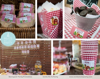 Barnyard Bash Party Decoration Printables Farm Party