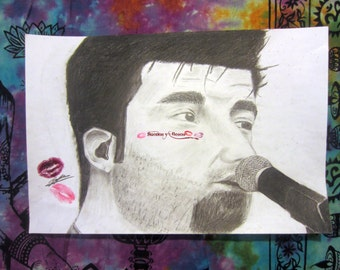 The Deftones--Chino Moreno original drawing