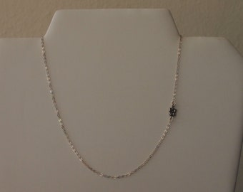 Minimalism  Chain/Necklace in Sterling Silver with Flower Detail
