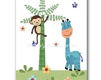 Giraffe Digital Art Print Digital Nursery Art Nursery Digital Print Printable Nursery Art Instant Download Baby Boy Nursery Art 8x10 11X14