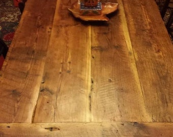 7 ft rustic farm table in heart pine