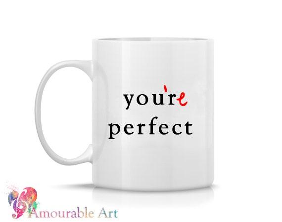 Coffee Mug, Ceramic Mug, Typography Mug, Grammar Mug, Funny Unique Coffee Mug, 11oz or 15oz Watercolor Art Print Mug Gift, Anniversary Gift