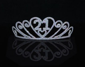 21st Birthday Sparkle Tiara Party Favor Decor - 151100
