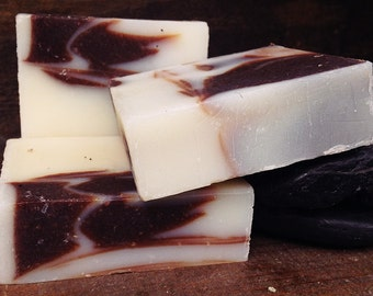 2 Soap Bars-Cocoa Peppermint Vanilla  Soap-Facial Soap-No Parabens-No Sulfates-Synthetic Fragrances-Phthalates-GMOs