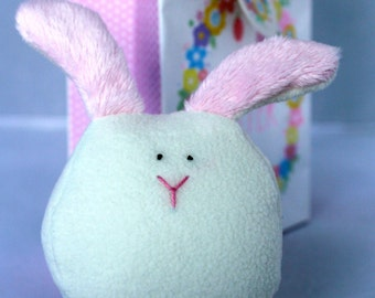 Bunny Rabbit, Soft Cute and Cuddly, Pink and White Stuffed Animal Plush