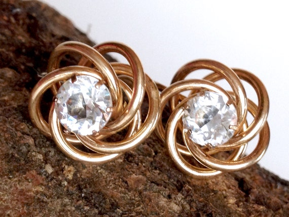 Items similar to sterling knot earrings bugbee niles gold for Bugbee and niles jewelry