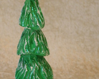 Hand Carved Wood Christmas Tree #158