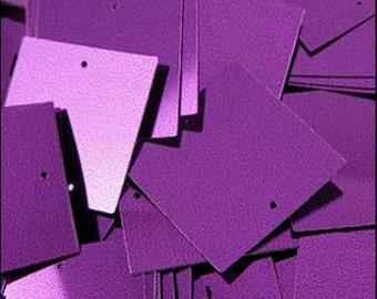 Metallic Royal Purple Square Sequins 25mm - JR04708