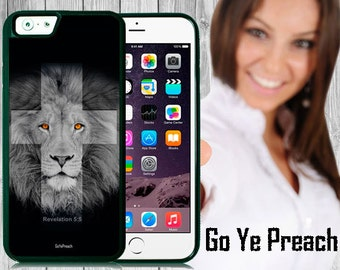 Lion Cross Christian Phone Case, Bible Verse Scripture iPhone case 4/4s 5/5s 5c 6 & Samsung Galaxy case s3 s4 s5 Faith iPhone Cover