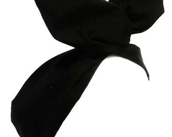 Rockabilly Pin up Headband Black Wire