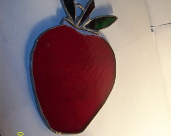 "Vintage Sun Catcher 4.5"" Teacher's Apple"