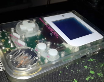Customized/Modded Clear Game Boy DMG-001 with Biverted White Back-Light