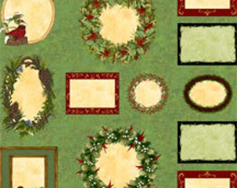 Elegant Greenery Quilt Labels Panel