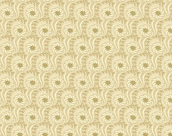 Haberdashery Fabric - Fan Swirls in Tan
