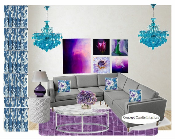 Items Similar To Interior Design Services Living Room Mood Board Comple