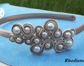 Gold & Cream  Soutache Headband