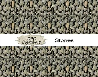 Stone Rock Digital Paper, Scrapbooking, Scrapbooking paper, Invitation, Background, Cards, Stickers
