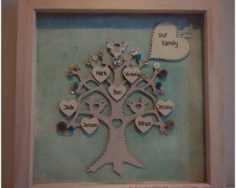 12 x 12 inch Framed Family Tree