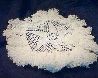 Gorgeous Ruffled Hand Crocheted Doily!!!!!!