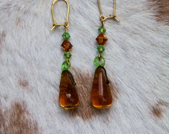 Glass Squash Earrings