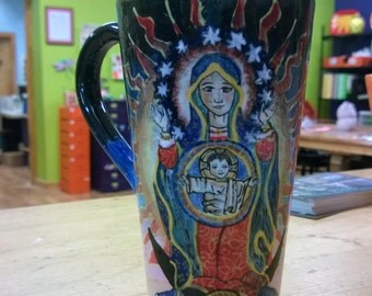 Our Lady of Guadelupe Hand Painted Mug