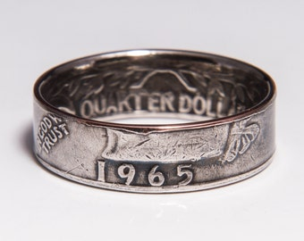 Washington Quarter Coin Ring 1965-1998