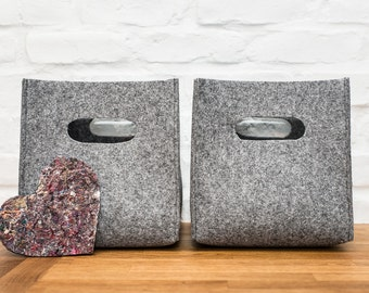 Felt box, felt storage box, storage basket, storage bin, felt storage bag, felt bin, kitchen storage, household storage, fabric storage, bin