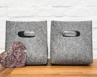 Felt box, felt storage box, storage basket, storage bin, felt storage bag, felt bin, kitchen storage, household storage, fabric storage, bin