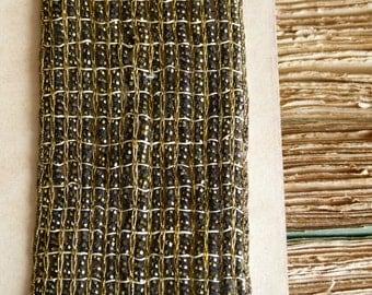 Antique metallic gold & black heavy passementerie trim. gold lamé embroidery, art deco, gatsby, costume design, jewellery, craft, flapper