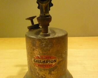 Vintage Champion Gasoline Blow Torch - Steampunk - Industrial