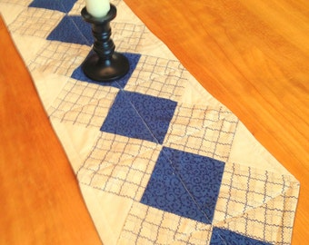 """Reversible Quilted & Pieced Table Runner  (32"""")"""