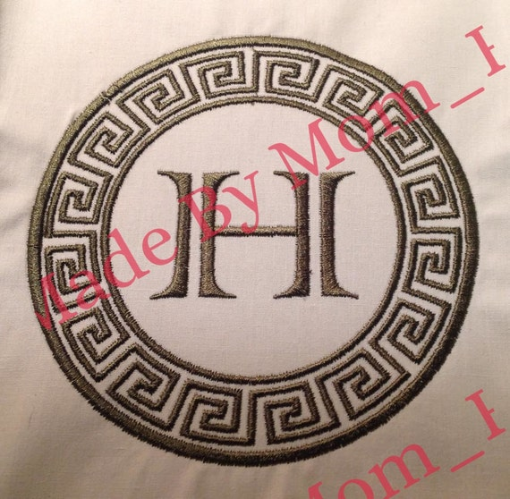 Monogram Frame - Greek Circle from HappyGirlApplique on ...