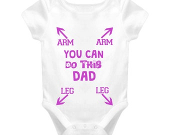 You Can Do This Dad Baby clothing New Dad New Father Parent Baby One Piece gift funny baby shower christening