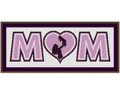 Mom and a Baby Mothers Day New Baby Counted Cross Stitch Pattern in PDF for Instant Download