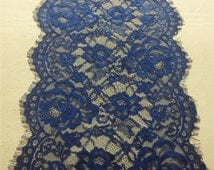 "20ft navy Table runner 11""  lace table runner wedding  table runners navy lace runner 14110702"