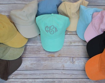 Monogrammed Women's Baseball Hats