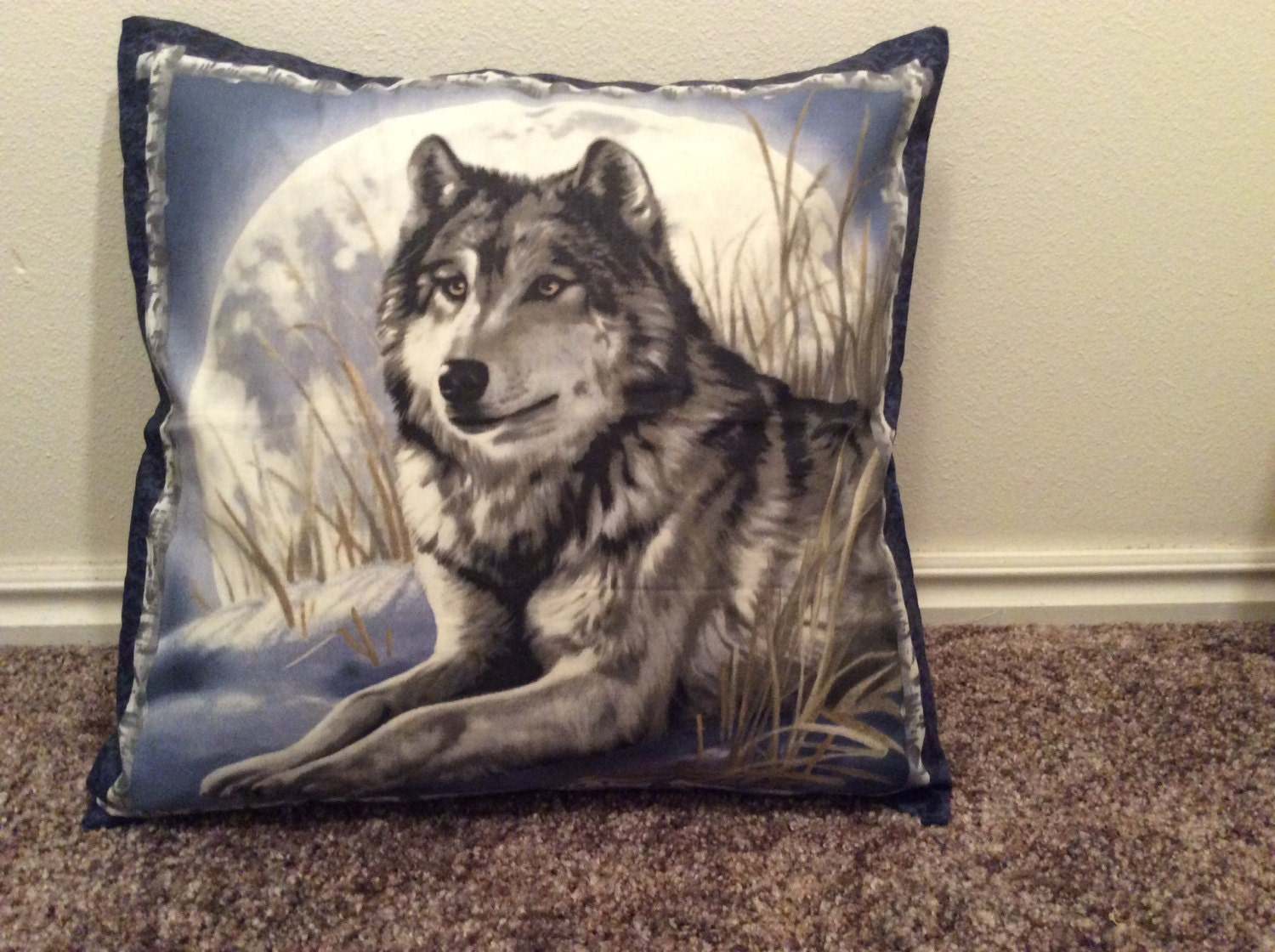 Throw Pillows With Washable Covers : wolf pillow cover cabin throw pillow washable by BellsPillows
