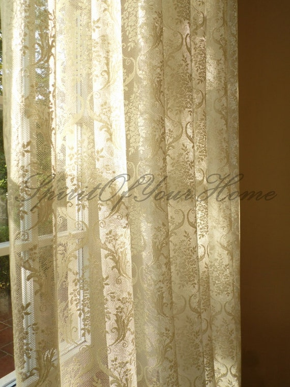 French Net Lace Curtains Embroidered Net Lace By Spiritofyourhome