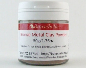 Bronze Metal Clay Powder 50g, Jewellery Making Craft Supply, Bonschelle brand