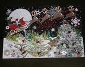 Elegant, handmade, one-of-a-kind Christmas collage card and keepsake, suitable for display