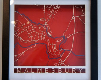 Laser cut map -personalised for your area