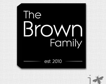 Custom Family Wall Art - Perfect Newlywed or house warming gift