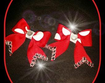 Mini Bling Bows with Polka dots